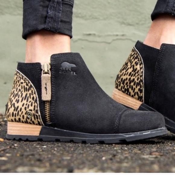 Sorel Leopard Print Booties